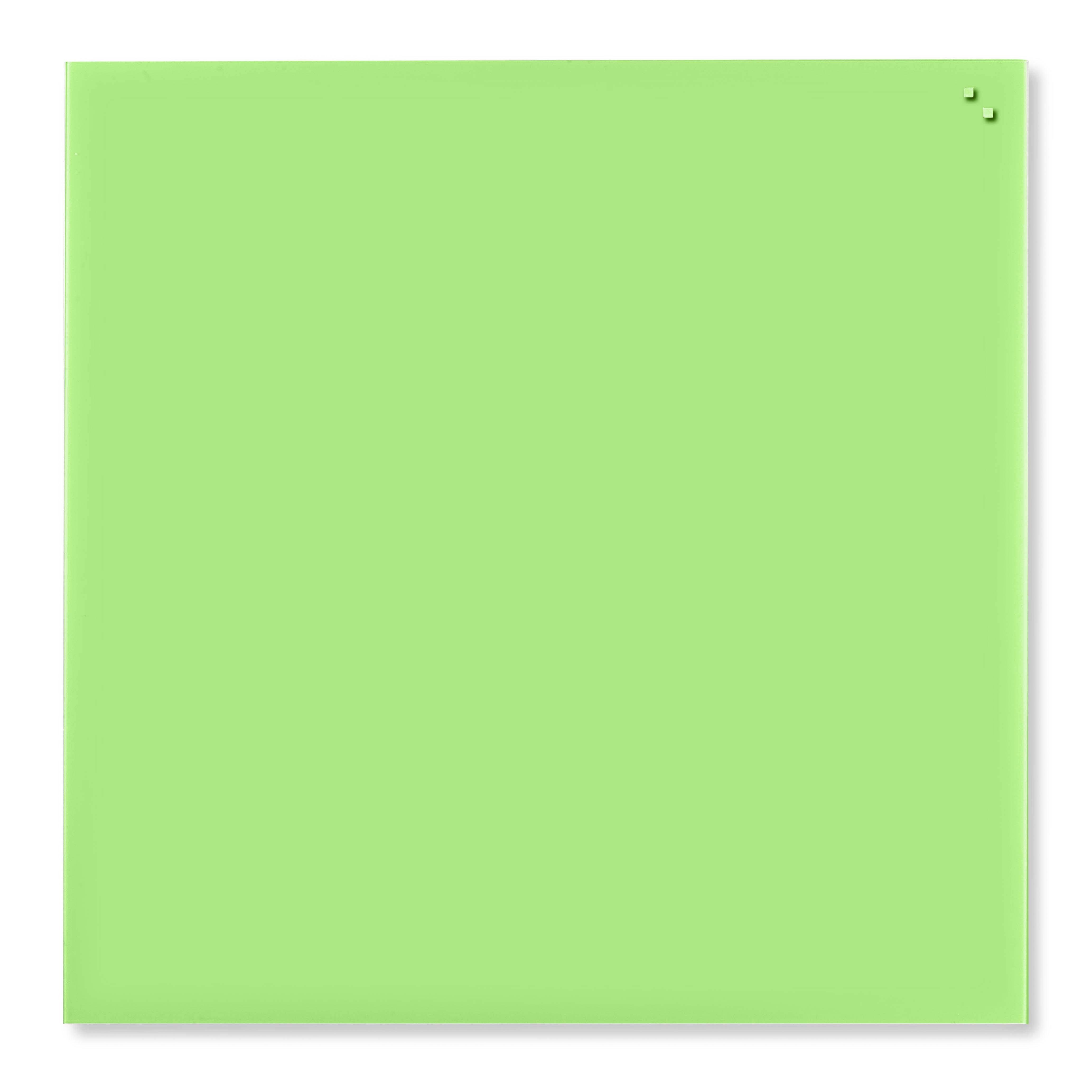 Tabule magnetické skleněné - 100 x 100 cm / sv. zelená
