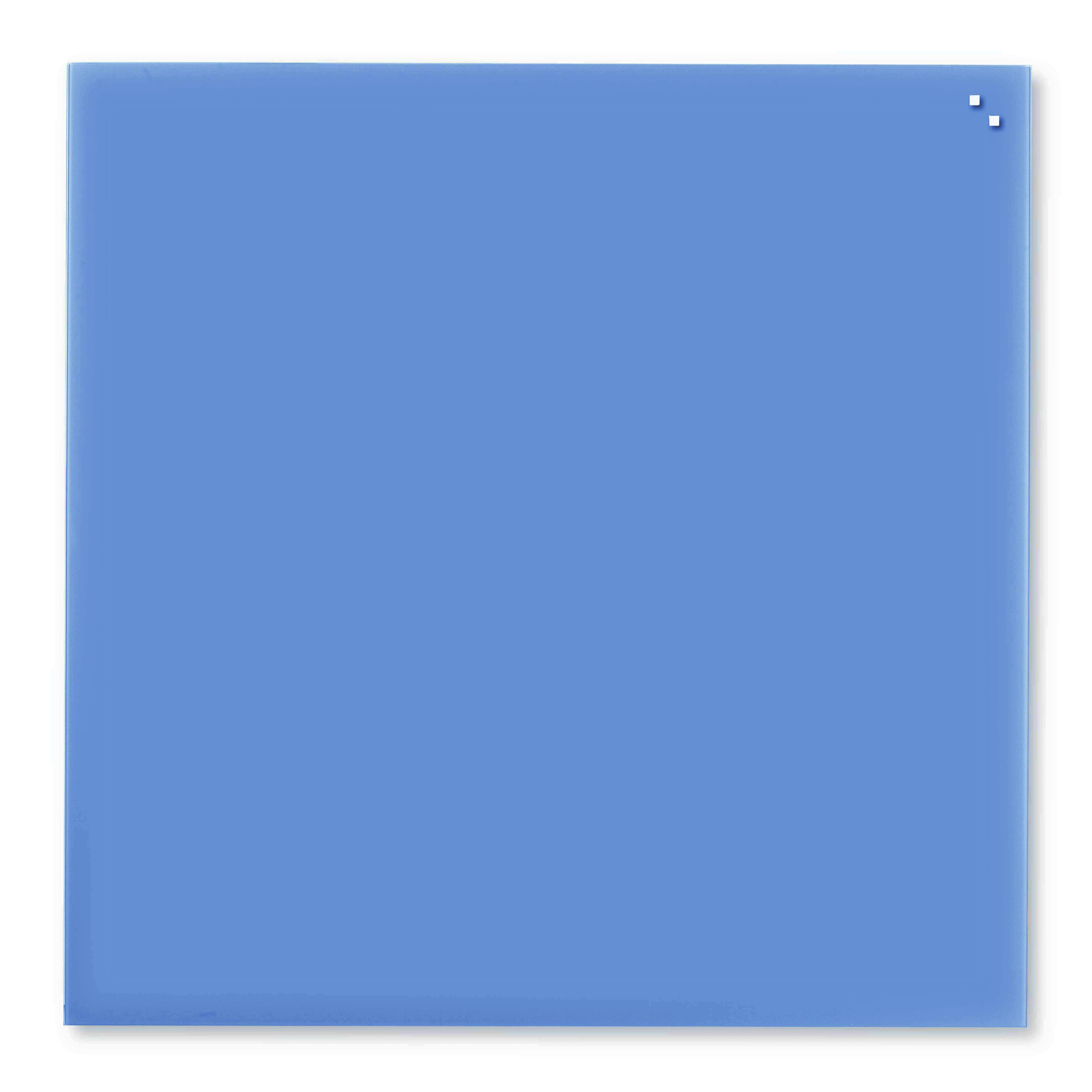 Tabule magnetické skleněné - 100 x 100 cm / kobaltová modrá