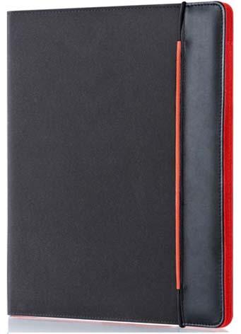 Portfolio A4 Sakota - černá / červená