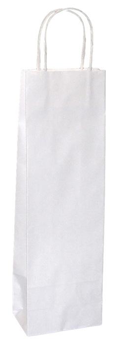 Taška papírová na láhev - bílá