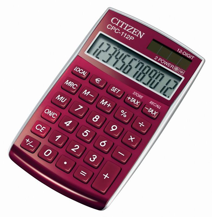 Kalkulačka Citizen CPC - 112 - displej 12 míst/ červená