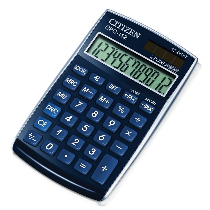 Kalkulačka Citizen CPC - 112 - displej 12 míst/ modrá