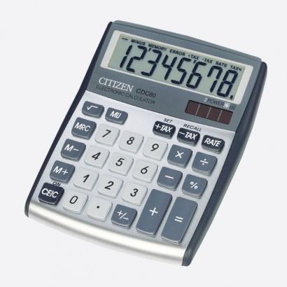 Kalkulačka Citizen CDC 80 - displej 8 míst / stříbrná