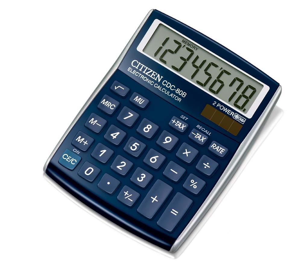 Kalkulačka Citizen CDC 80 - displej 8 míst / červená