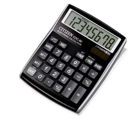 Kalkulačka Citizen CDC 80 - displej 8 míst / černá