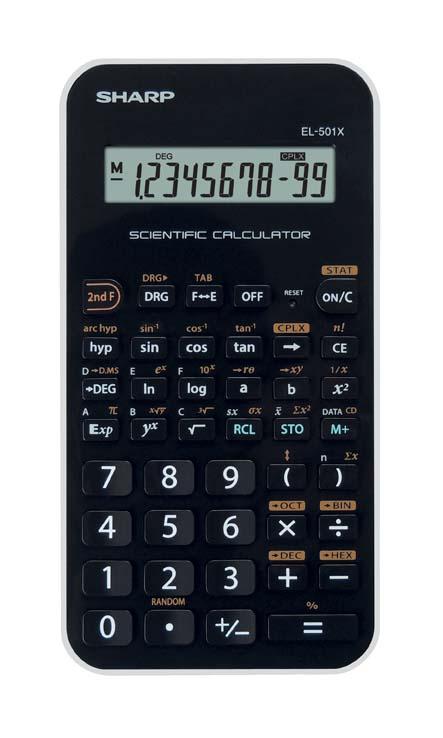 Kalkulačka Sharp EL 501 - černo-fialová