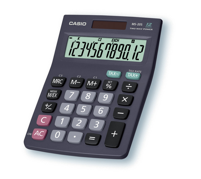 Kalkulačka Casio MS 8 / 10 / 12 B - 20 B / displej 12 míst