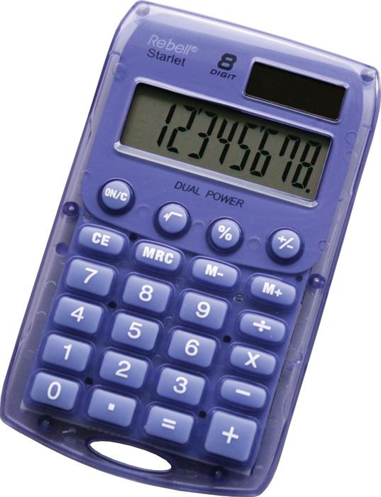 Kalkulačka Rebell Starlet 8 - fialová