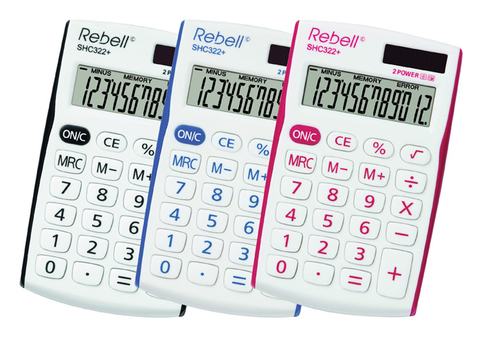 Kalkulačka Rebell SHC 322+ - černá
