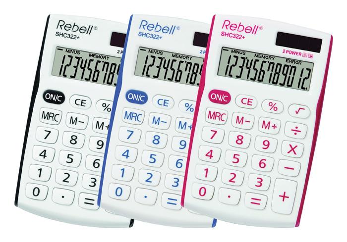 Kalkulačka Rebell SHC 322+ - červená