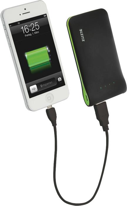 Přenosná USB nabíječka Leitz Complete - černá