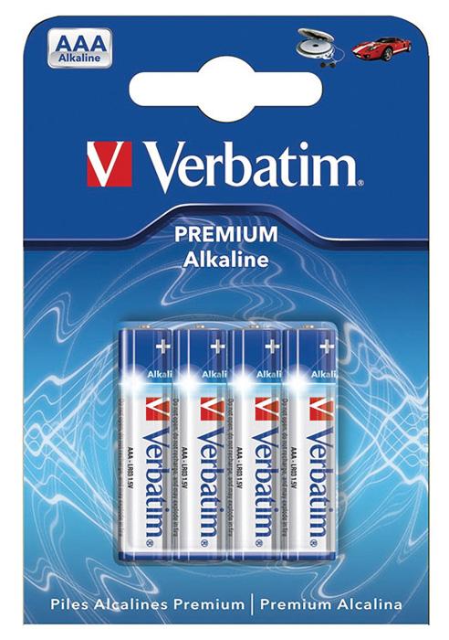 Baterie Verbatim alkalické - baterie mikrotužková AAA 1,5 V / 4 ks