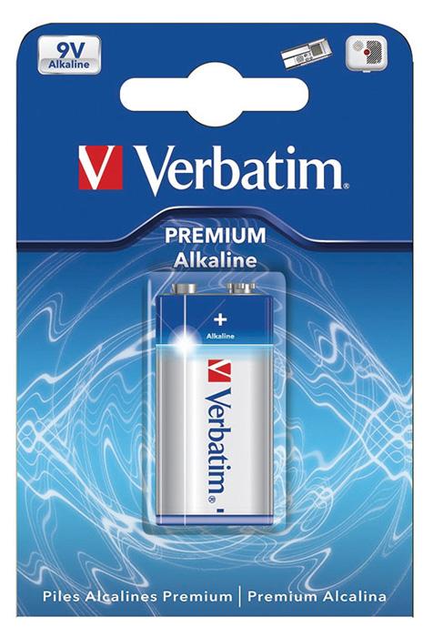 Baterie Verbatim alkalické - baterie R61 9V / 1 ks
