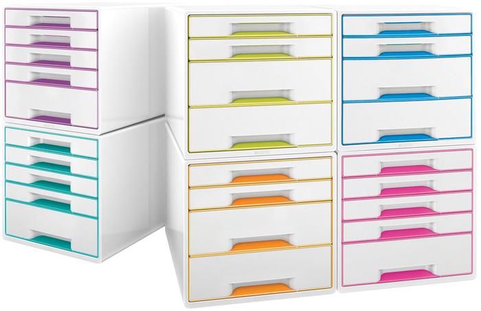 Zásuvkový box Leitz WOW - fialová