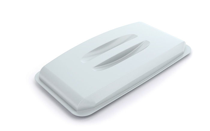 Odpadkové koše Durabin 60 l - víko / bílá