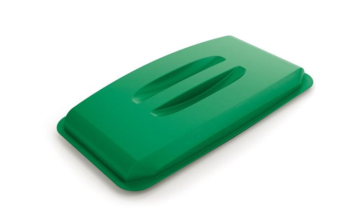 Odpadkové koše Durabin 60 l - víko / zelená