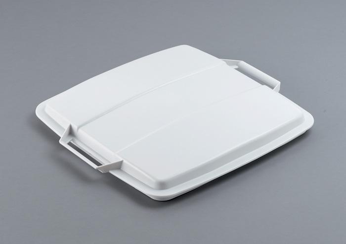 Odpadkové koše Durabin 90 l - víko / bílá