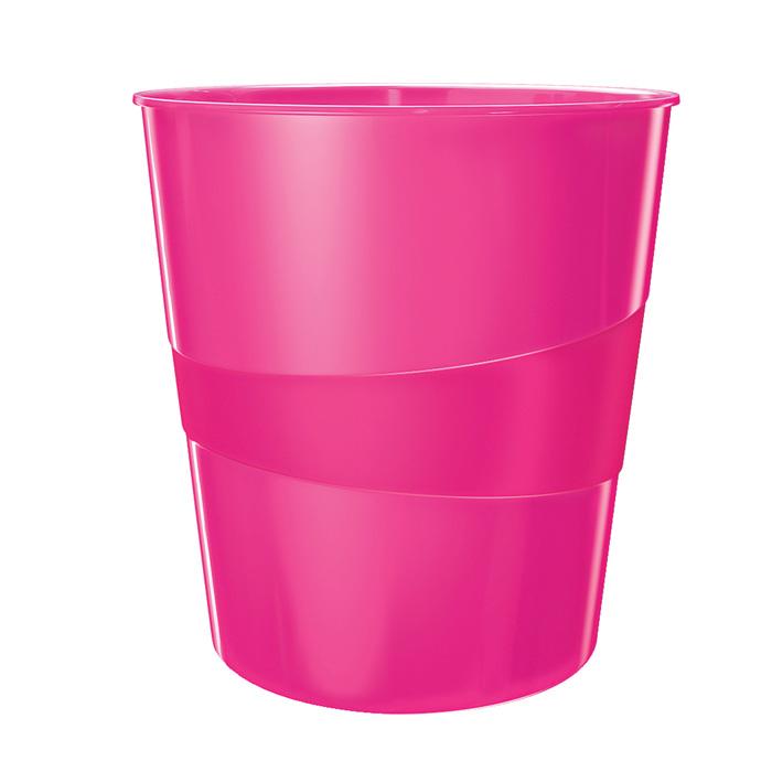 Koš odpadkový Leitz WOW - růžová