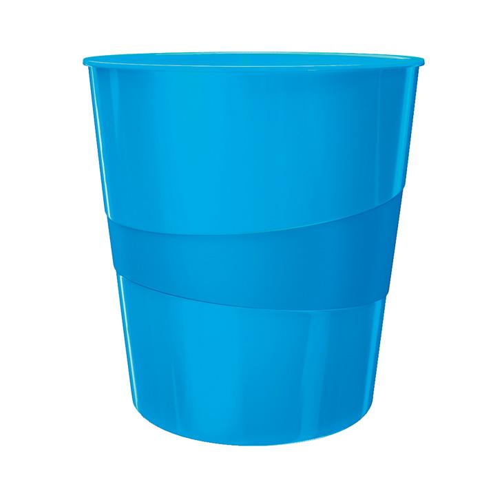 Koš odpadkový Leitz WOW - modrá
