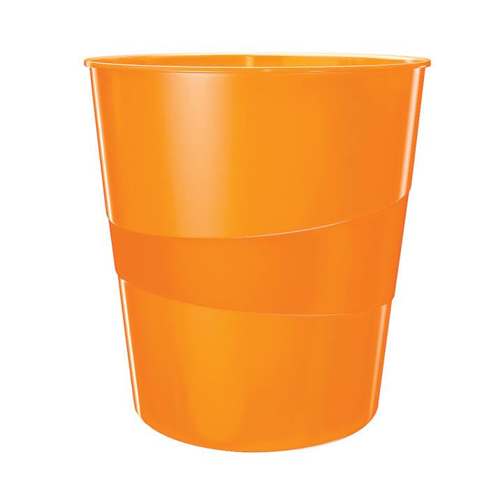 Koš odpadkový Leitz WOW - oranžová