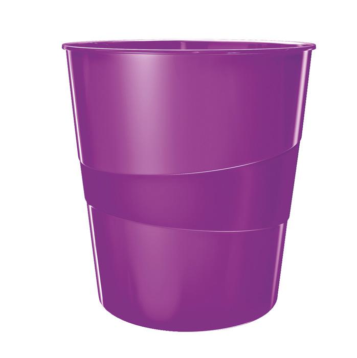 Koš odpadkový Leitz WOW - fialová