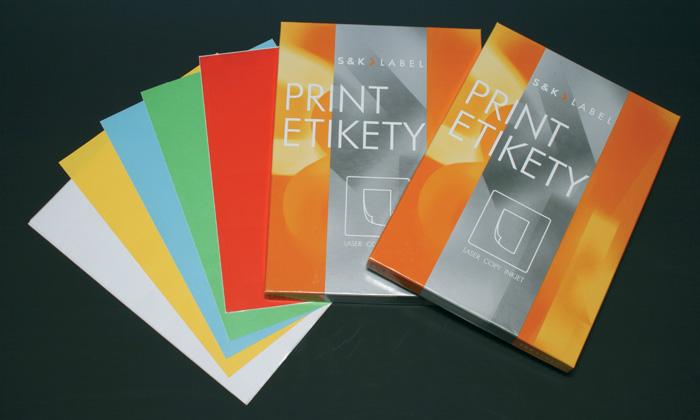 Print etikety A4 pro laserový a inkoustový tisk - barevné - 48,5 x 25,4 mm (40 etiket / arch) červená