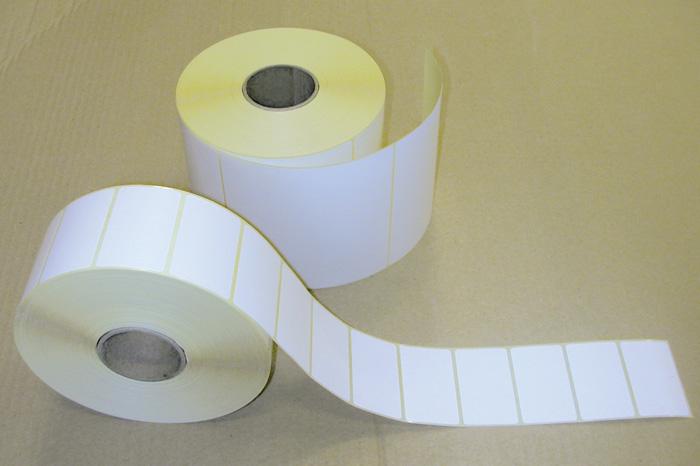 Etikety pro termotransferové tiskárny - 50 x 30 mm / 3000 etiket na kotouči