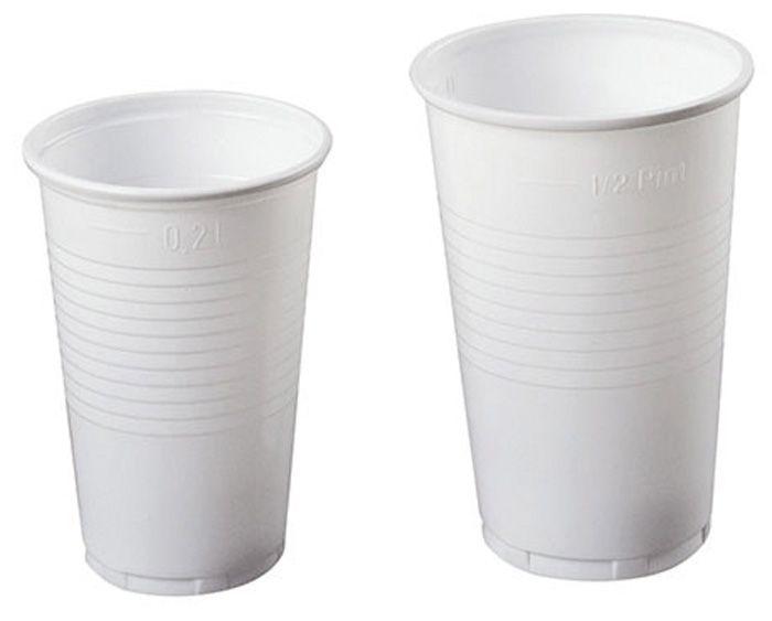Kelímky plastové - bílé / 3 dcl / 100 ks