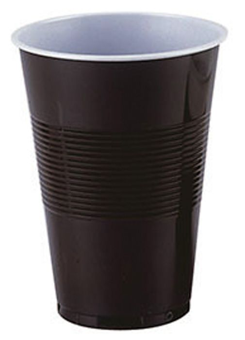 Kelímky kávové plastové - hnědobílé termo / 2 dcl / 100 ks
