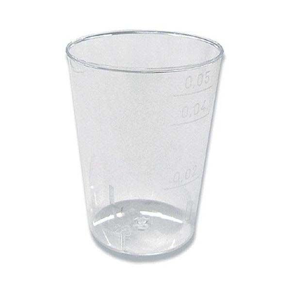Kelímky plastové - krystal / 5 cl / 40 ks