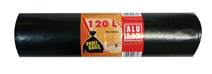 Pytle na odpad černé - 70 cm x 110 cm / 120 l / 45 my / 10 ks