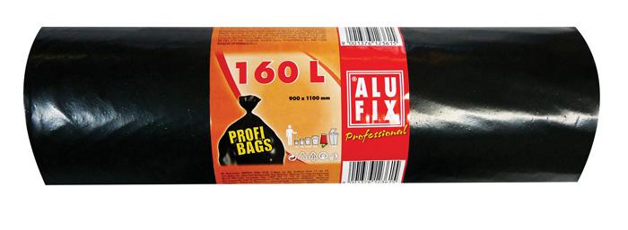 Pytle na odpad černé - 90 x 110 cm / 160 l / 45 my / 10 ks