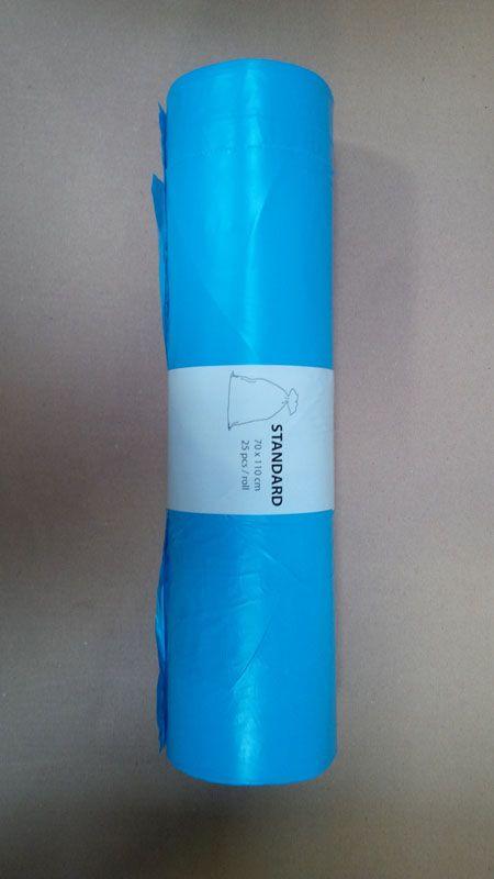 Pytle na odpad barevné - modré / 70 x 110 cm / 120 l / 23 my / 25 ks