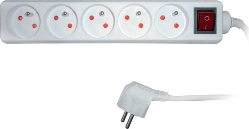 Prodlužovací přívody s vypínačem - 5 zásuvek / 3 m