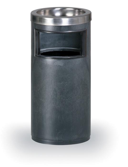Odpadkový koš s popelníkem - černá / 10 l
