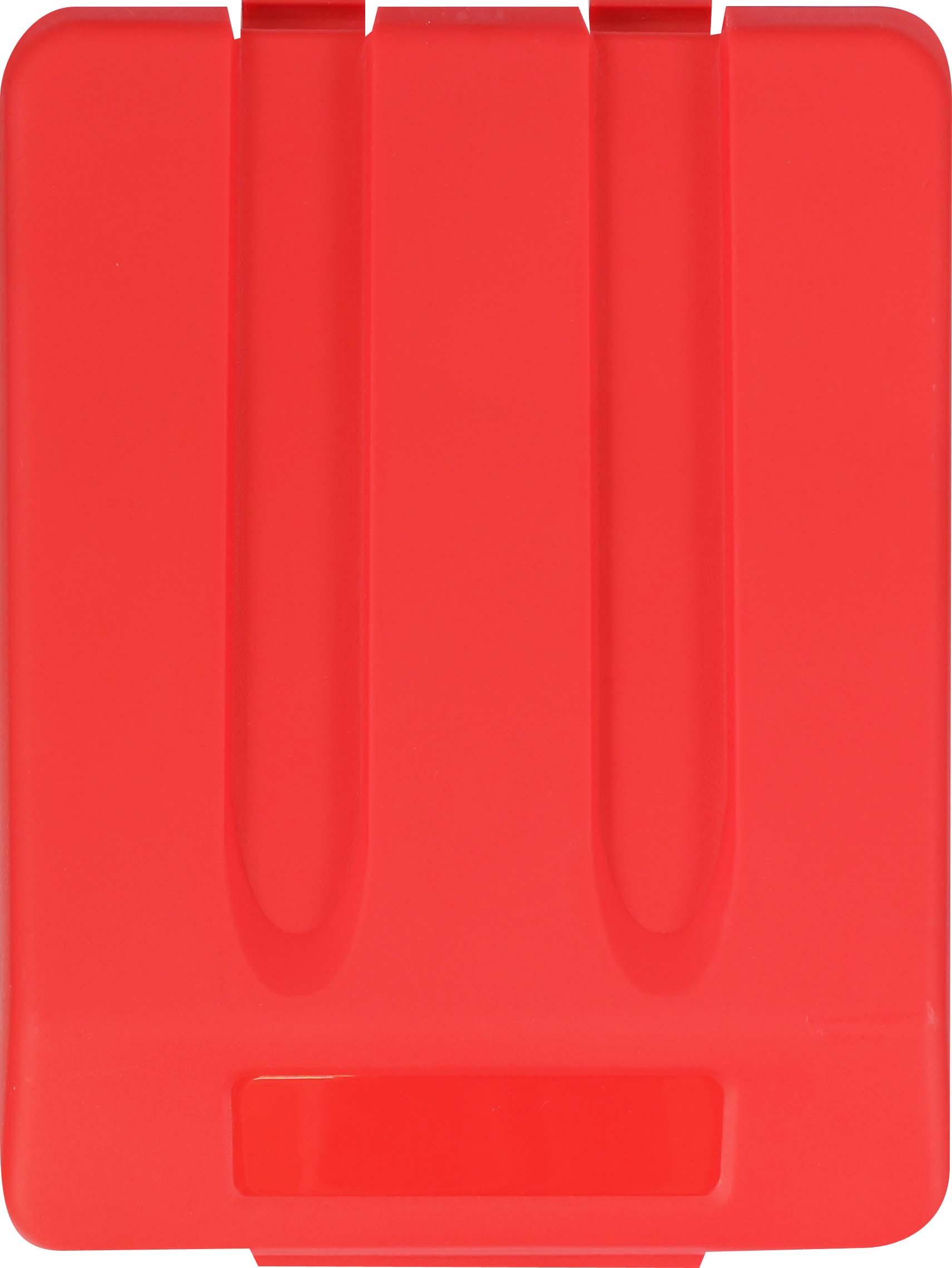 Odpadkový koš na tříděný odpad - víko / červená