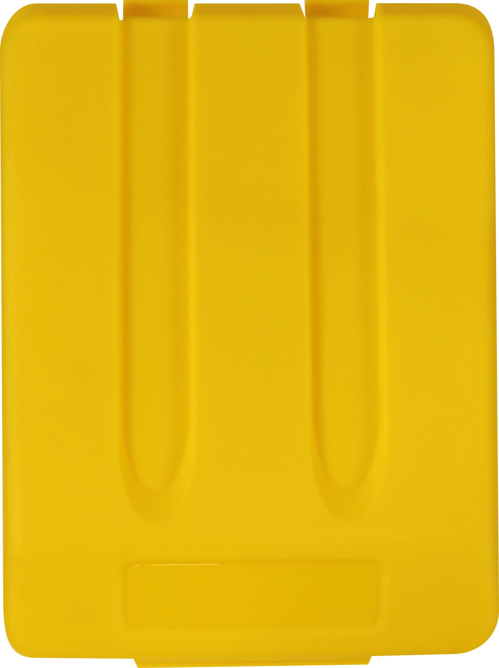Odpadkový koš na tříděný odpad - víko / žlutá