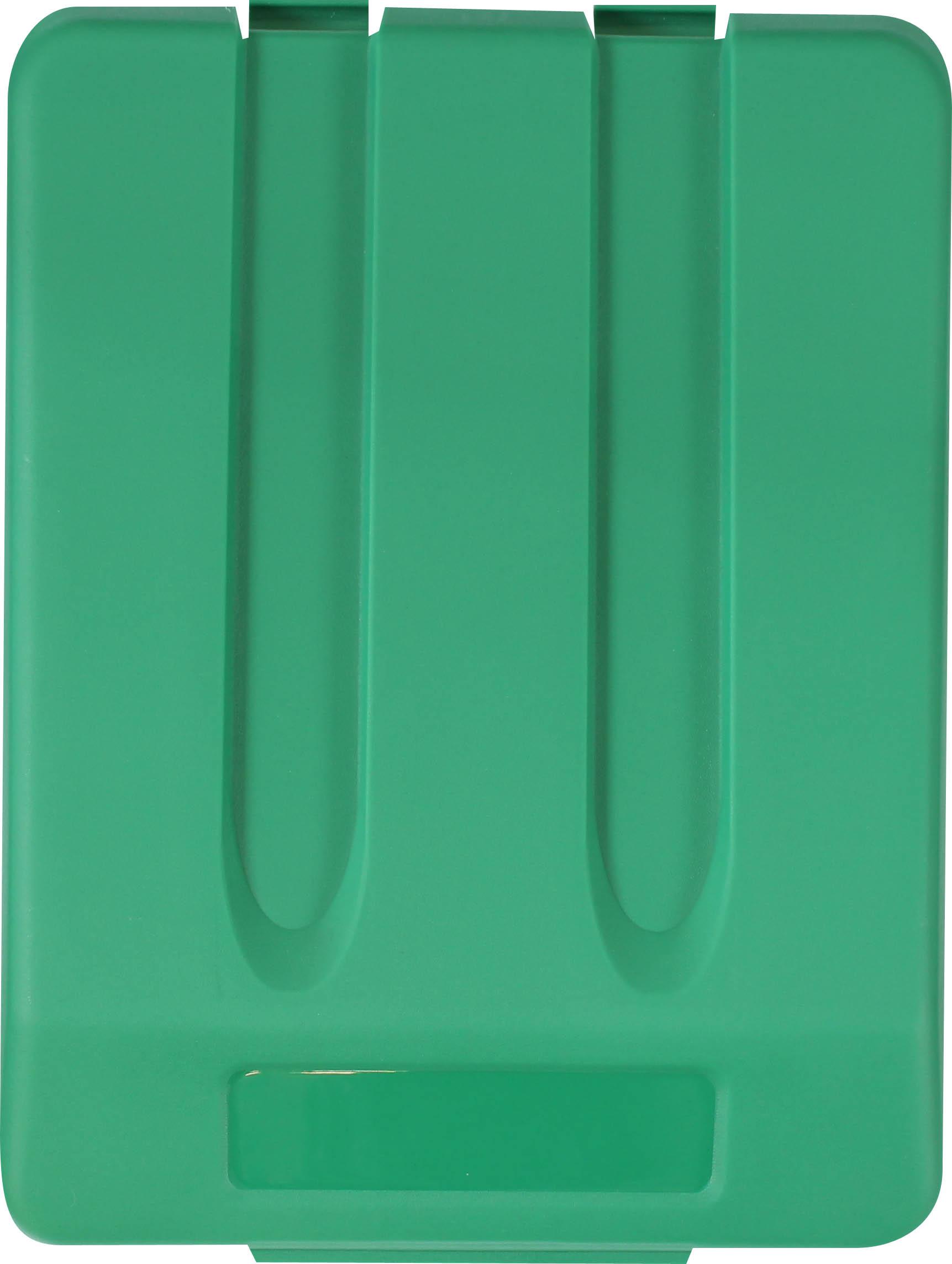 Odpadkový koš na tříděný odpad - víko / zelená