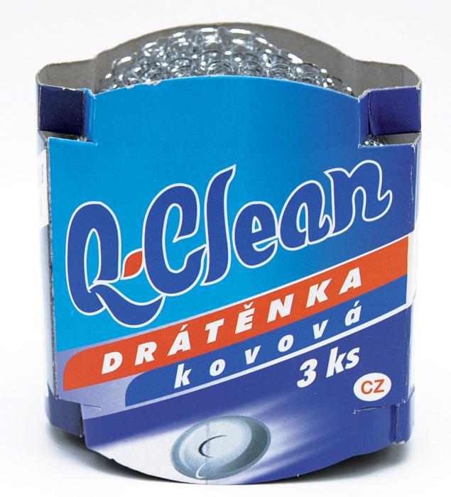 Drátěnky Q-Clean - kovová / 3 ks