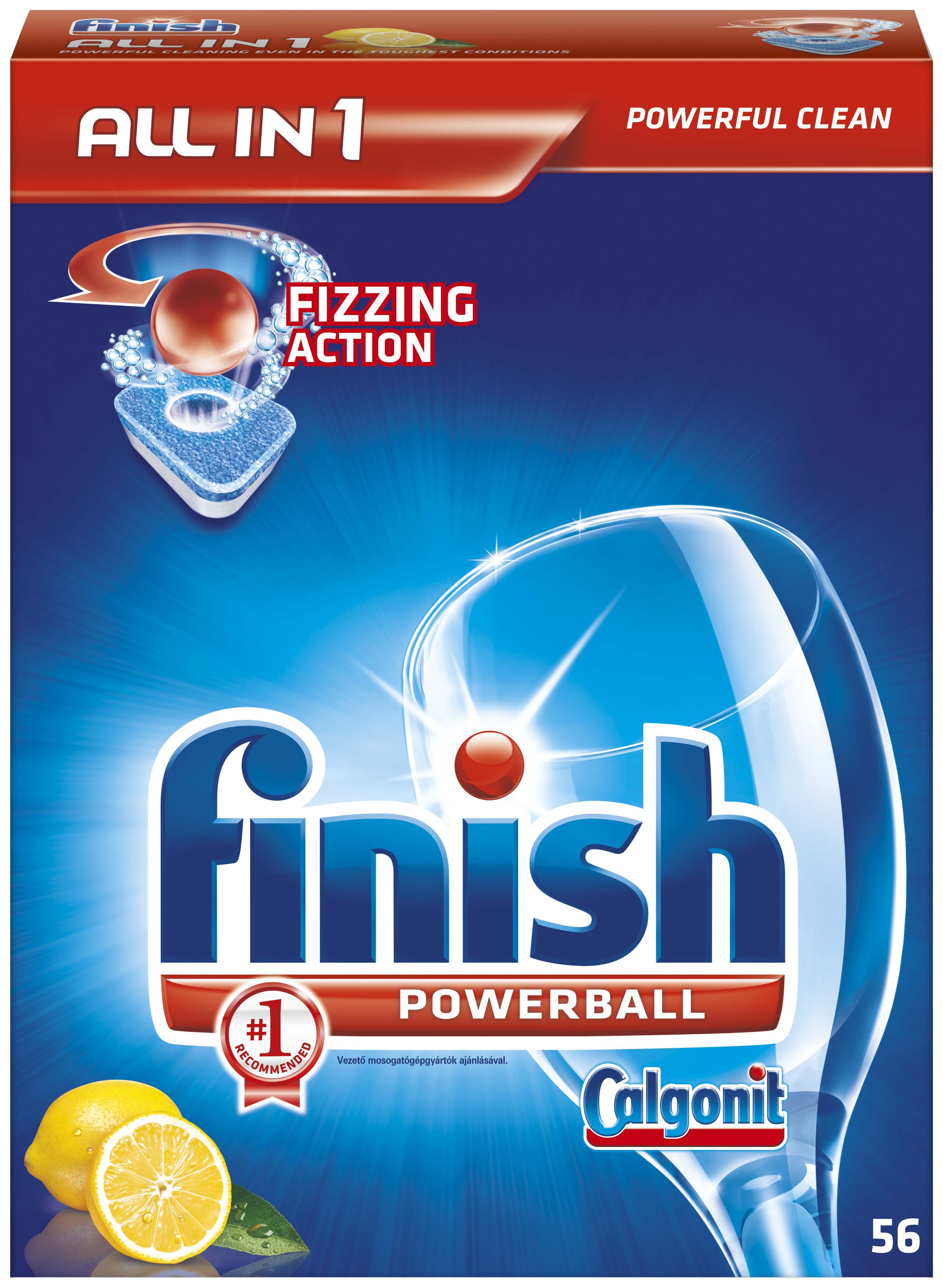 Calgonit – prostředky do myčky - tablety all in 1 / 56 ks / citron