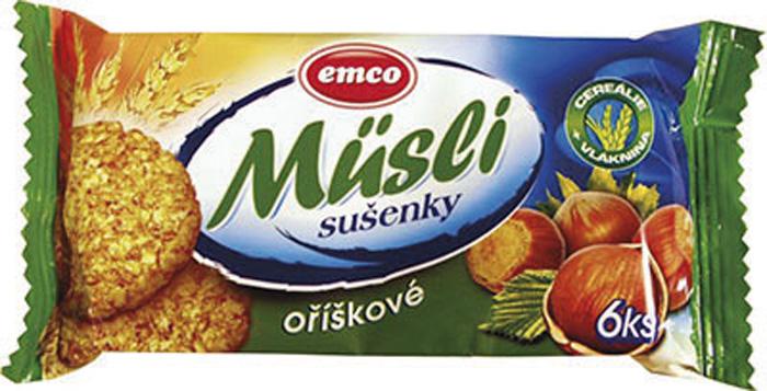 Emco musli sušenky - oříškové / 60 g