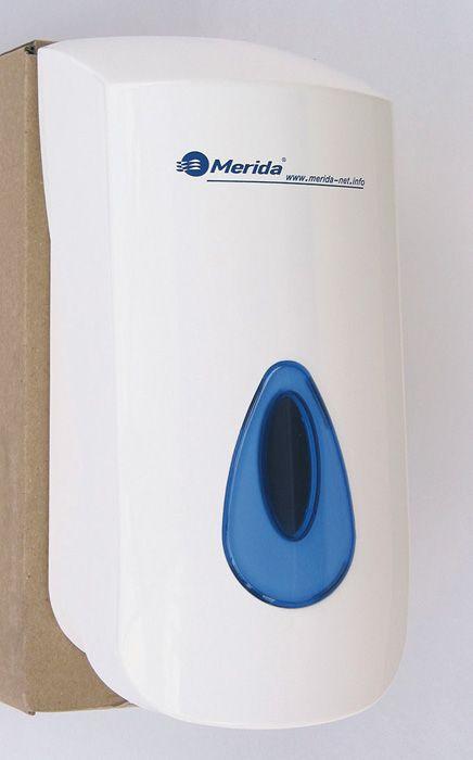 Zásobník na tekuté mýdlo Merida TOP - bílá / modrá / Mini