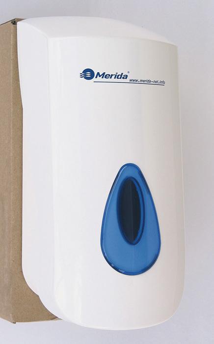 Zásobník na tekuté mýdlo Merida TOP - bílá / modrá / Maxi
