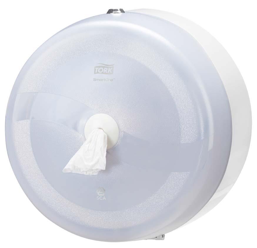 Zásobník na toaletní papír Tork Smart - bílá / 270 x 270 x 170 mm