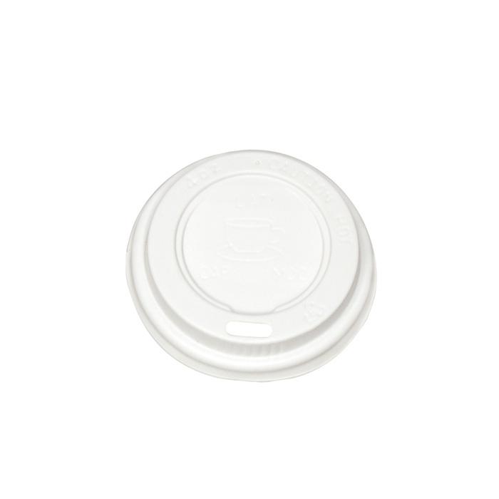 Víčka na papírové kelímky Coffee - na 100 / 120 ml / 100 ks bílé