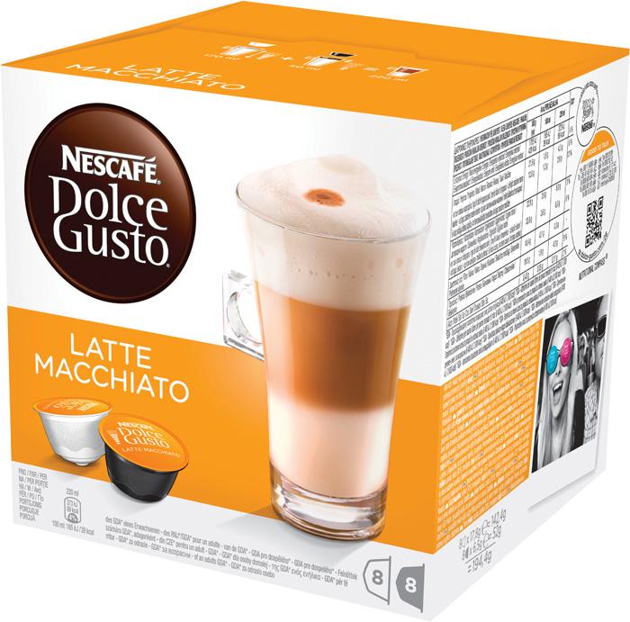 Nescafé Dolce Gusto kapsle - Latté Macchiato / 8+8 ks