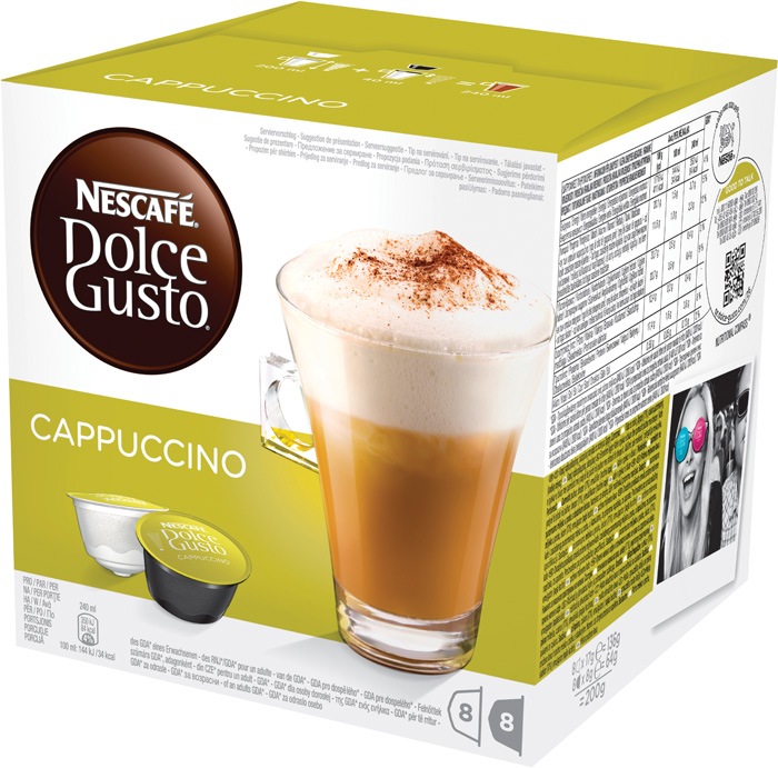 Nescafé Dolce Gusto kapsle - Cappuccino / 8+8 ks