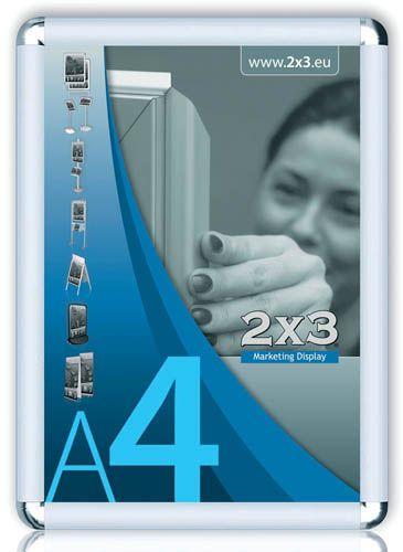 Rám na reklamu -rám na reklamu A2 kulaté rohy