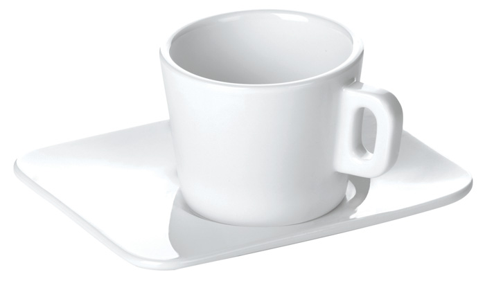Porcelánové šálky s podšálkem Gustito - na espresso