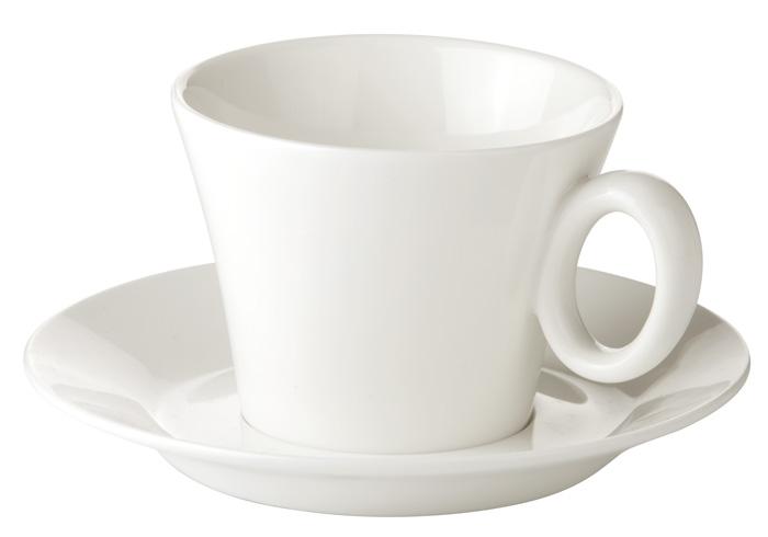 Porcelánové šálky s podšálkem Allegro - na cappuccino
